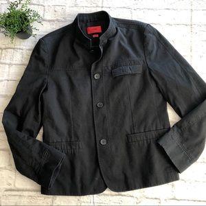 Hugo Boss black button front twill 40R jacket